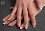 French mit Colour Gel Neon Cyclam