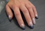 Glitter Gel Flip Flop Blue Violet mit Glitter Gel White Silver